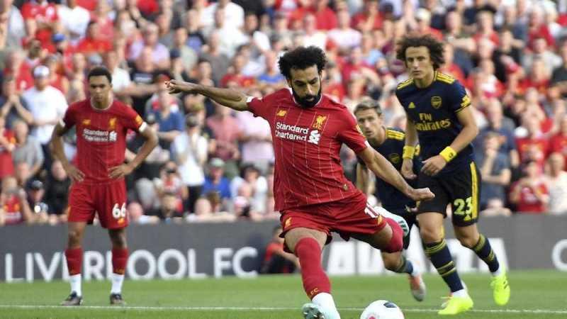Hasil Liga Inggris: Salah Dua Gol, Liverpool Tekuk Arsenal