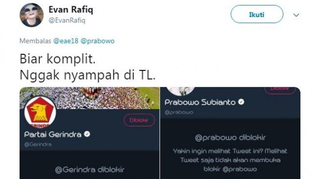 Gerakan Blokir dan Unfollow Akun Prabowo Masih Terus Berlanjut