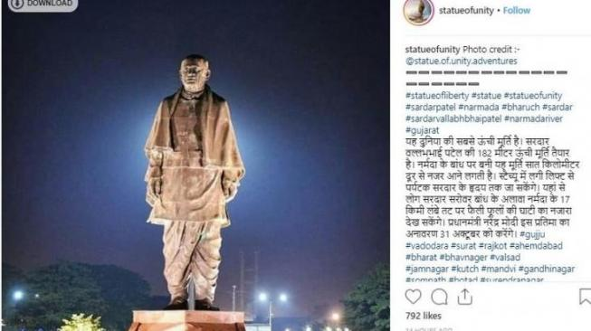 Enggak Mau Kalah, India Bangun Patung untuk Saingi Liberty