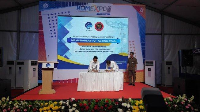 Kominfo Teken MoU dengan BNPT untuk Tangkal Terorisme di Dunia Maya