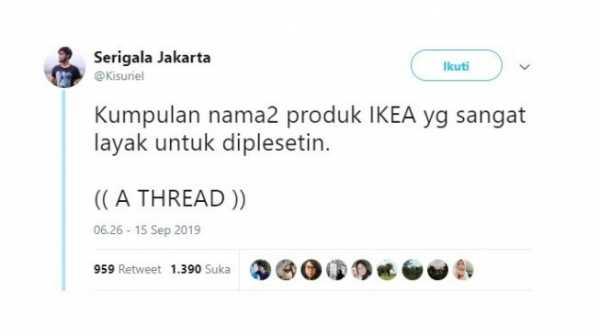 Nama Produk IKEA Diplesetkan Bikin Ngakak