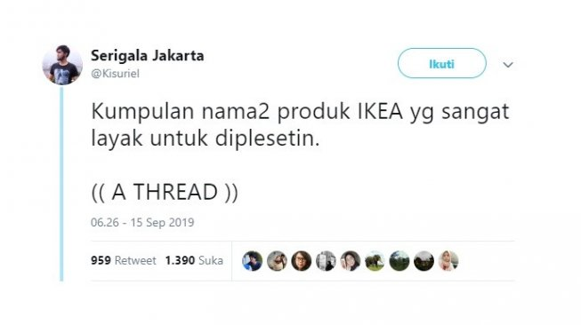 Kreatif, Kumpulan Plesetan Nama Produk IKEA Ini Bikin Ngakak
