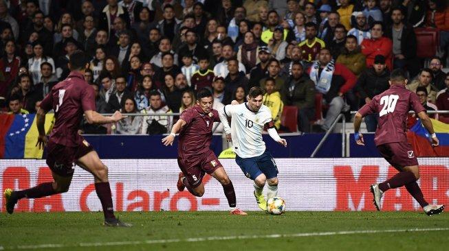 Argentina vs Venezuela: Messi Gagal Bawa Kemenangan
