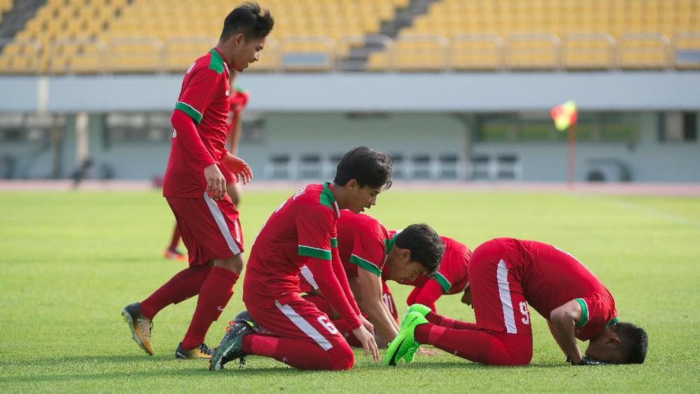 Selebrasi Sujud Timnas Indonesia U-19 Dikagumi Pelatih Taiwan