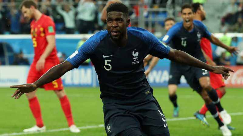 Sundulan Umtiti Bawa Prancis ke Final Piala Dunia