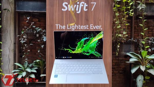 Laptop Tertipis dan Ringan Acer Swift 7 Melenggang di Indonesia