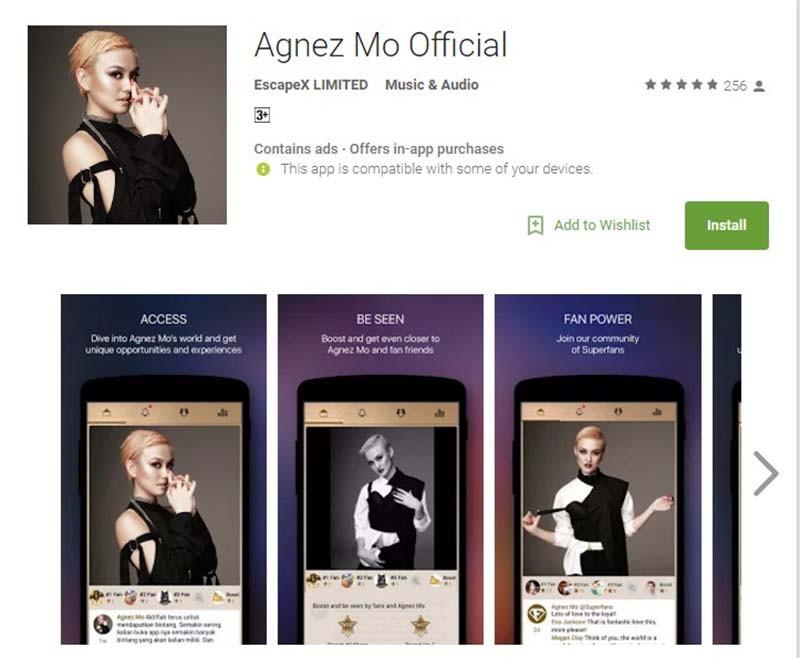 Aplikasi Agnez Mo diminati penggemar