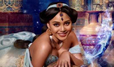 Aurel Hermansyah Berfoto Bak Putri Jasmine dari Film Aladdin Begini Reaksi Netizen