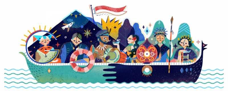 Melihat Google Doodle Hari Kemerdekaan Indonesia dari Tahun ke Tahun