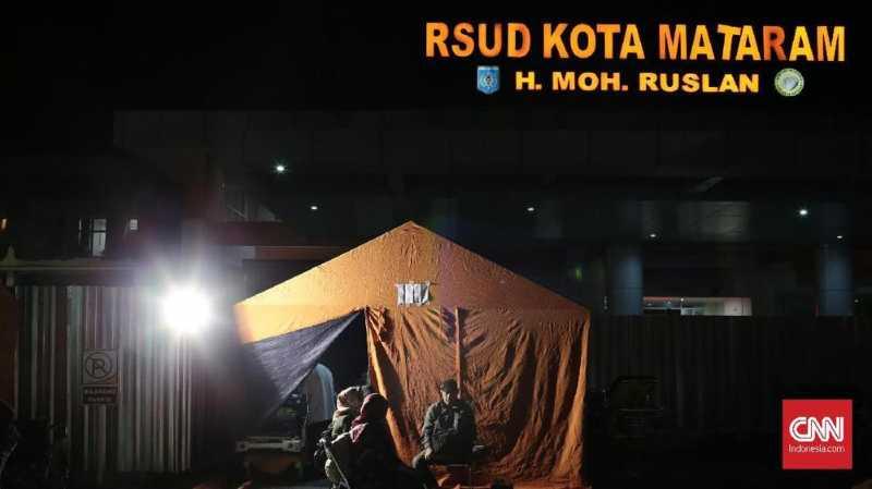 Gempa Susulan 4,9 SR di Lombok, Pasien RS Mataram Berhamburan