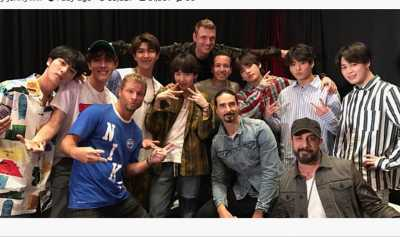Mengaku Fans Berat, Backstreet Boys Pajang Foto Bersama BTS
