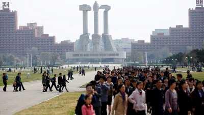 Melihat Kota Pyongyang, Korea Utara dari Atas