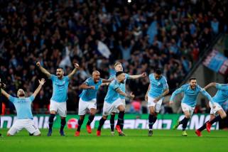 Manchester City juara Piala Liga Inggris lewat drama adu penalti melawan Chelsea