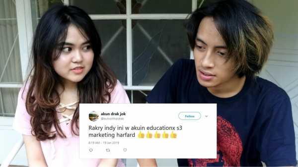 7 Respons Kocak Warganet Twitter usai Menonton Video Putus Rakry-Indy