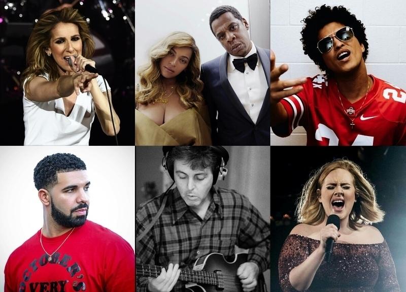 Ini 20 Musisi dengan Bayaran Tertinggi Tahun 2017