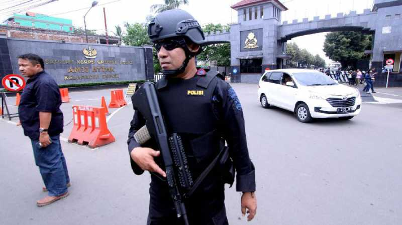 Jalan Depan Mako Brimob Masih Ditutup Usai Kerusuhan