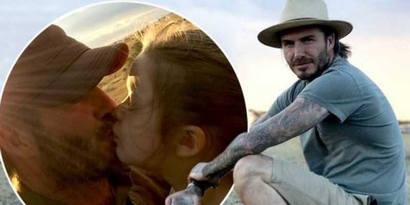 Foto Cium Bibir Putrinya Jadi Viral, Ini Kata David Beckham