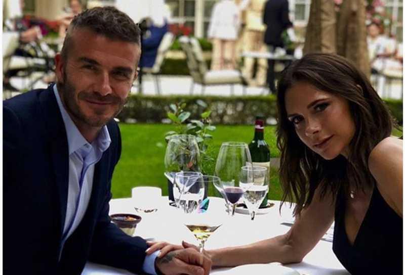 Foto Mesra David Beckham - Victoria Rayakan Ulang Tahun Pernikahan ke-19
