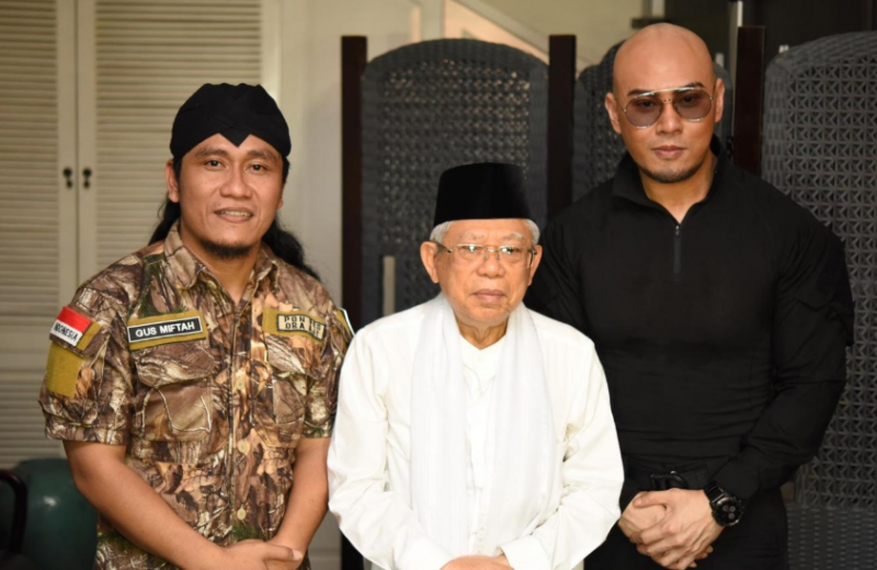 Sowan ke KH. Maruf Amin, Deddy Corbuzier Diberi 2 Pilihan Nama Islami