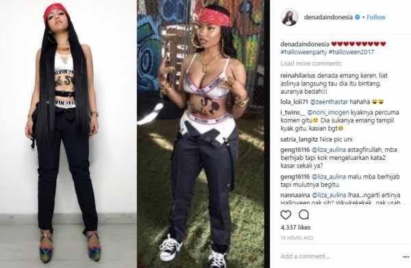 Denada Dibilang Menjiplak Gaya Rapper Nicky Minaj