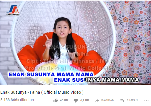 Tembus 5 Juta Viewers YouTube, Lagu Enak Susunya Menuai Pro dan Kontra