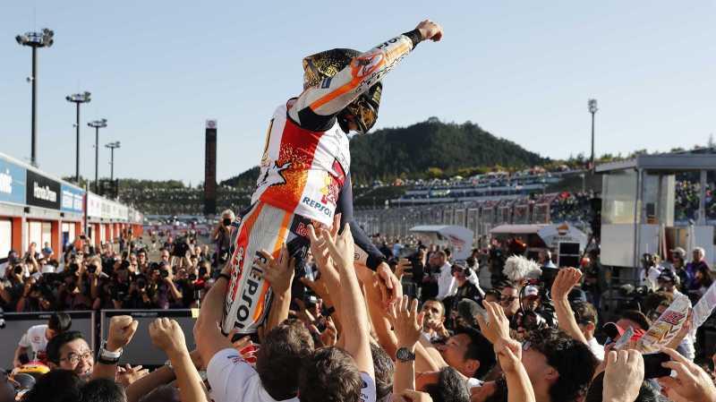 Marc Marquez Cedera Saat Rayakan Gelar Juara