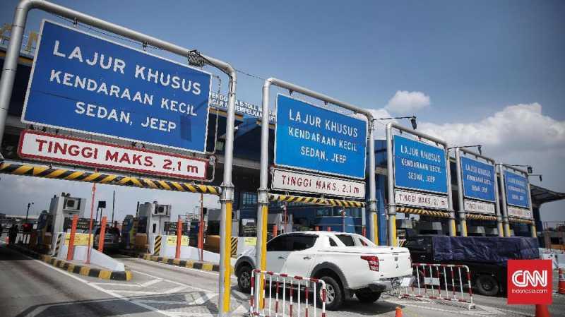 Gerbang Tol Cikarang Utama Lengang di H-1 Lebaran