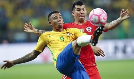 Dibungkam Brasil, Cile Gagal ke Rusia