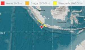 Gempa Melanda, Warga Pesisir Teluk Lampung Mengungsi