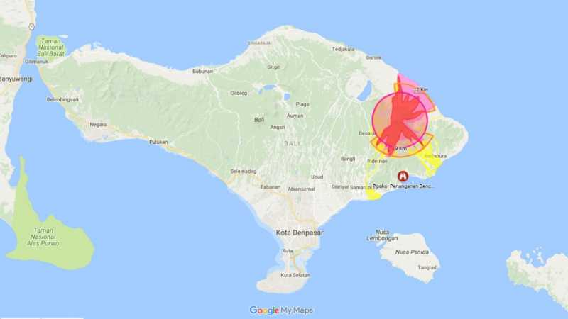 6 'Hoax' Terkait Status 'Awas' Gunung Agung Bali