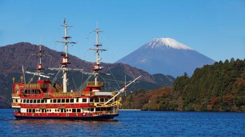 Gunung Fuji Bisa Dilihat dari Kapal Bajak Laut