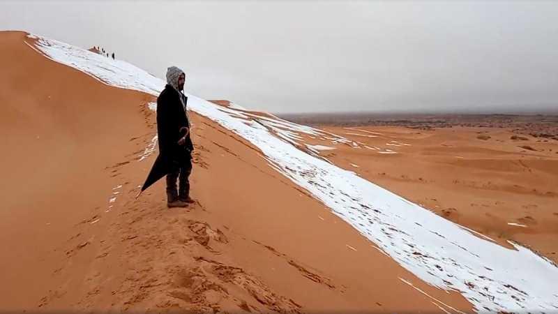 Penjelasan Ilmiah soal Salju di Gurun Sahara