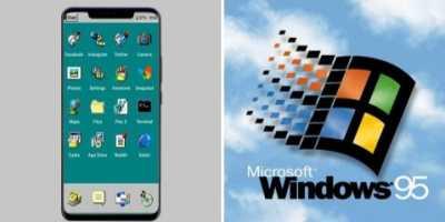 Saat iOS 'Berwajah' Windows 95
