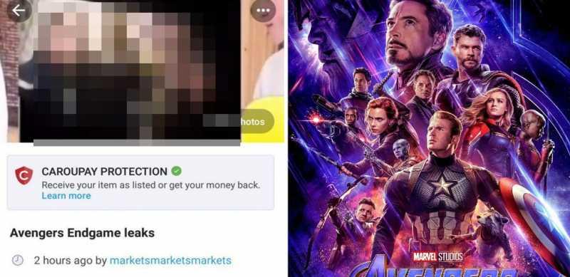Potongan Adegan Avengers: Endgame Bocor, Dijual Rp 50 ribu