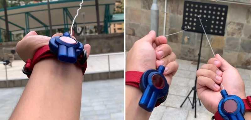 Wow! Pria Ini Ciptakan 'Senjata' Mirip Jaring Spiderman