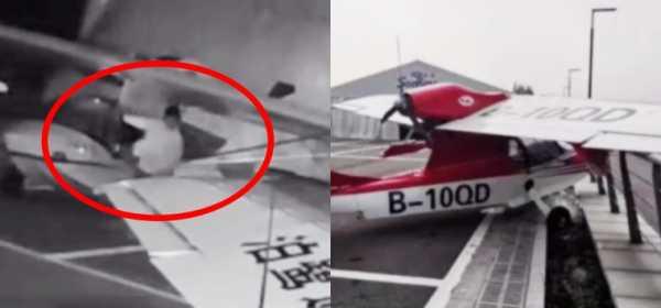 Nekat! Bocah Ini Mencoba Terbangkan Pesawat dari Hanggar