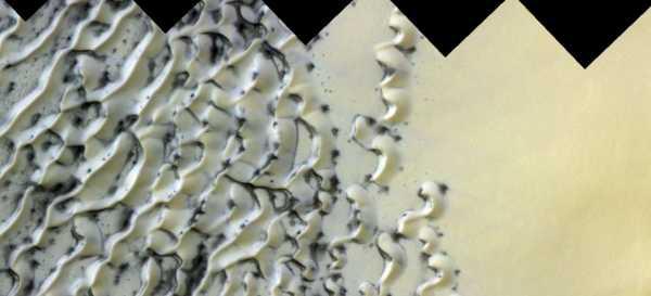Orbiter Menangkap Foto Pemandangan Aneh di Planet Mars