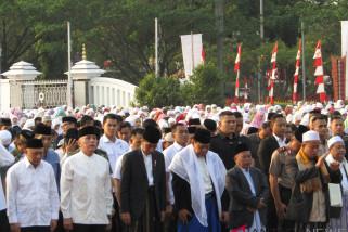 Presiden Jokowi Shalat Idul Adha di Cibinong