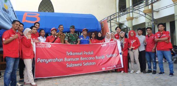 Banjir di Sulawesi Selatan, Telkomsel Jaga Kualitas Jaringan