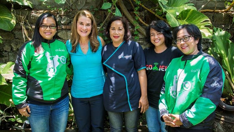 Istri Bill Gates Kunjungi Kantor Go-Jek di Bali, Apa yang Dia Lakukan?