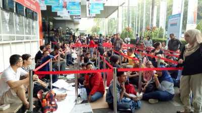 Antrean Garuda Travel Fair 2017 Fase II Membeludak