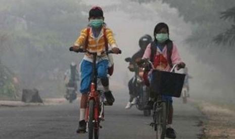 BMKG Terbitkan Peringatan Cuaca Terkait Kabut Asap di Sampit