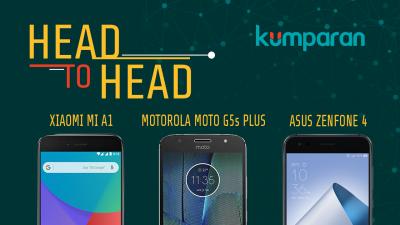 Adu Ponsel Kamera Ganda: Xiaomi Mi A1, Moto G5s Plus, Asus Zenfone 4