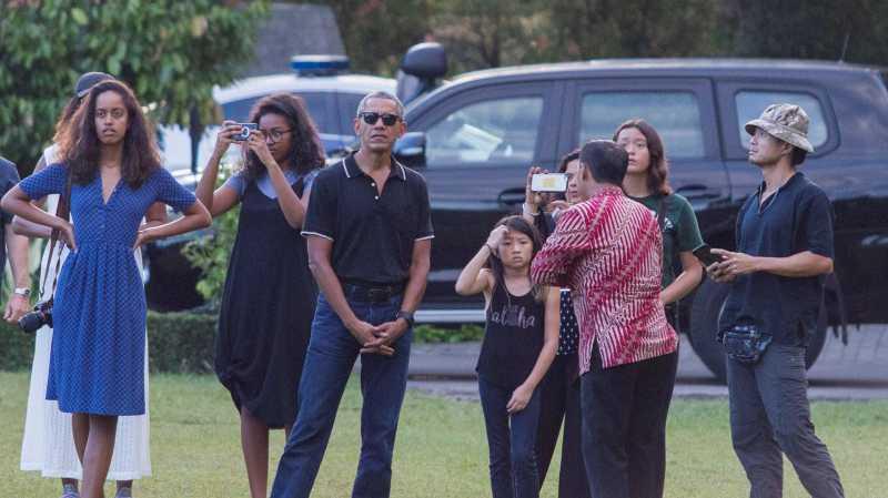 Dua Putri Obama Mampir ke Taman Sari Yogyakarta