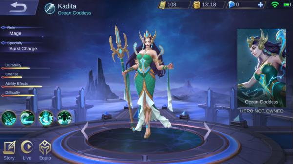 Mobile Legends Siap Rilis Hero Baru Kadita yang Mirip Nyi Roro Kidul