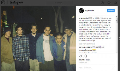 Mike Shinoda Unggah Foto Lama Bersama Chester