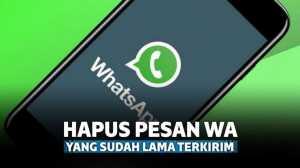 Tidak Bisa Pakai Fitur Unsend, Begini Cara Hapus Pesan Lama di WhatsApp