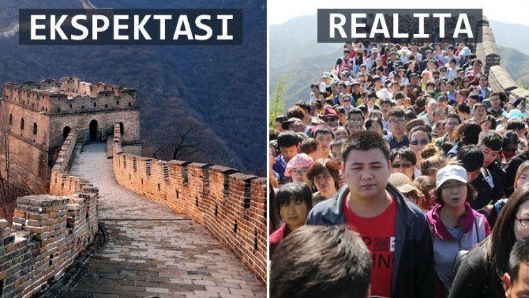 Kesel! Ini 15 Foto Ekspektasi Vs Realita Ketika Traveling yang Bikin Kecewa Banget