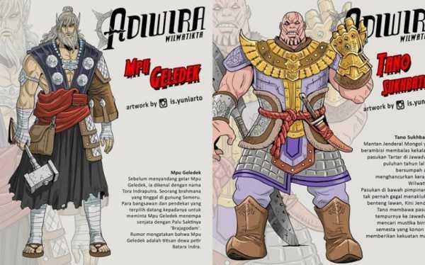 Keren nih! Ilustrator Asal Indonesia Bikin Karakter Marvel Versi Kerajaan Majapahit