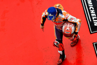 Marquez Dijatuhi Sanksi Penurunan Enam Posisi